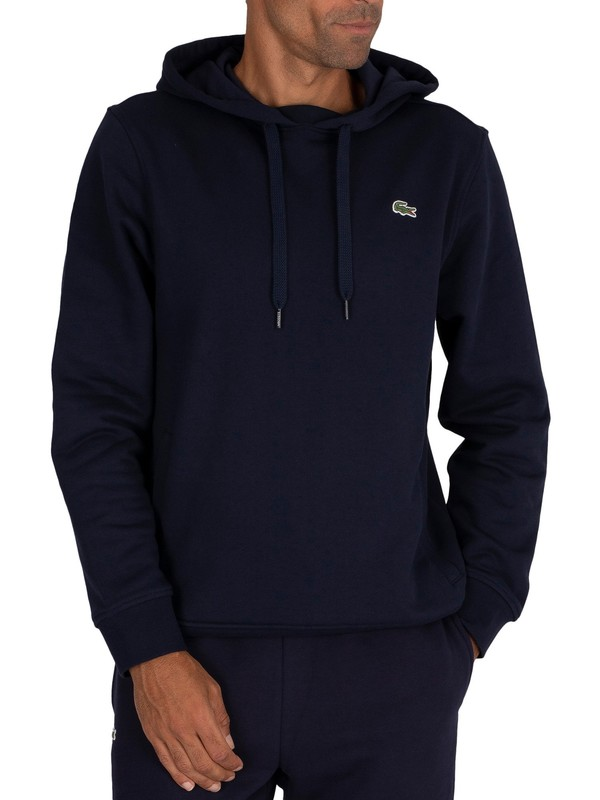 Lacoste Sport Pullover Hoodie - Blue Marine
