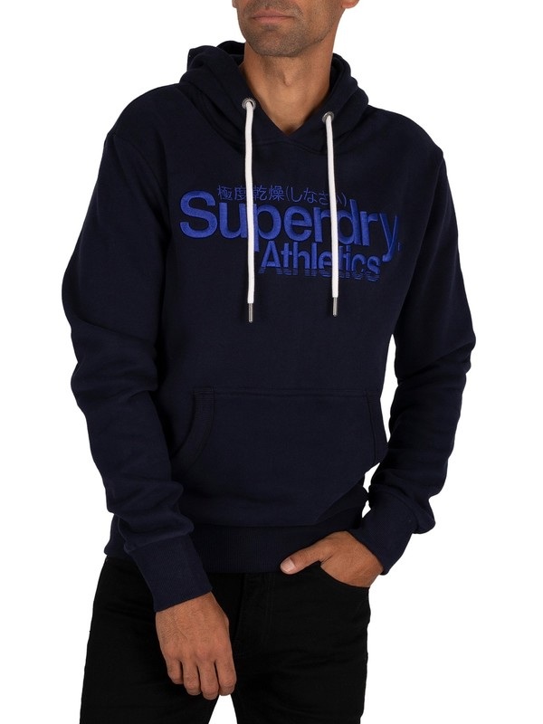 Superdry Athletics Pullover Hoodie - Nautical Navy
