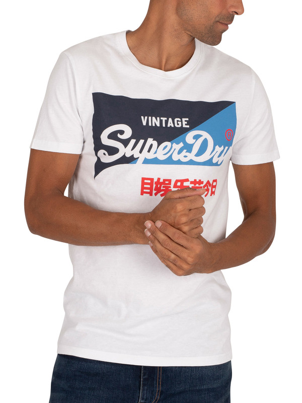 Superdry Primary T-Shirt - Optic
