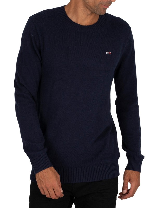 Tommy Jeans Light Blend Crew Knit - Twilight Navy