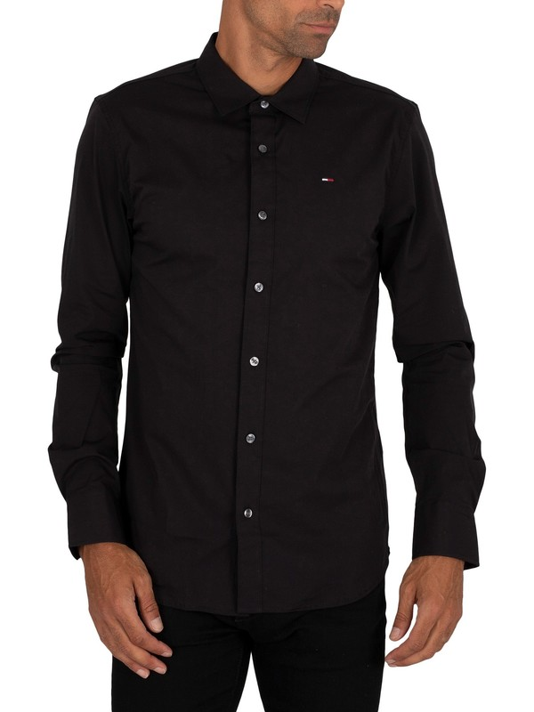 Tommy Jeans Original Stretch Slim Shirt - Black