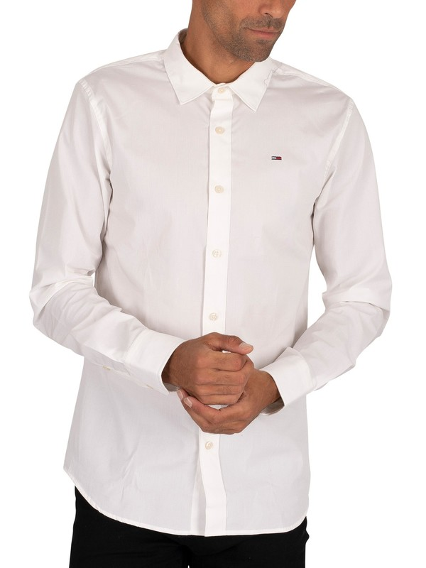 Tommy Jeans Original Stretch Slim Shirt - Classic White
