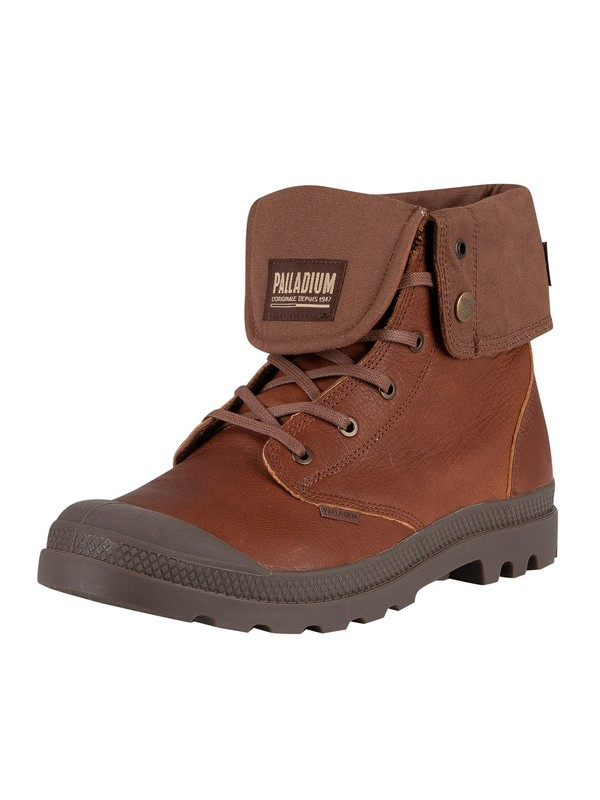 Palladium Baggy Leather Boots - Mahogany