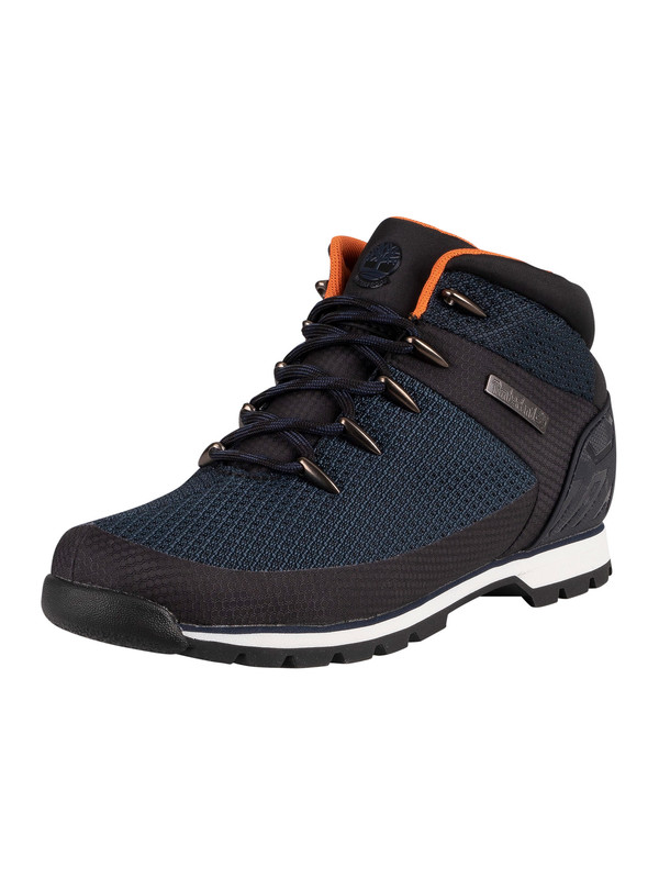 Timberland Euro Sprint Waterproof Hiker Boots - Navy Knit