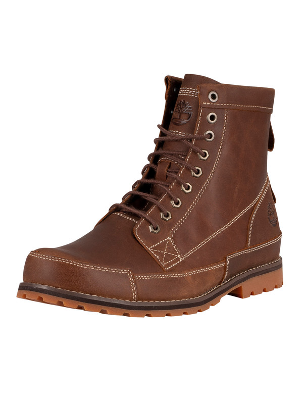 Timberland Originals 6 Inch Leather Boots - Rust Full Grain