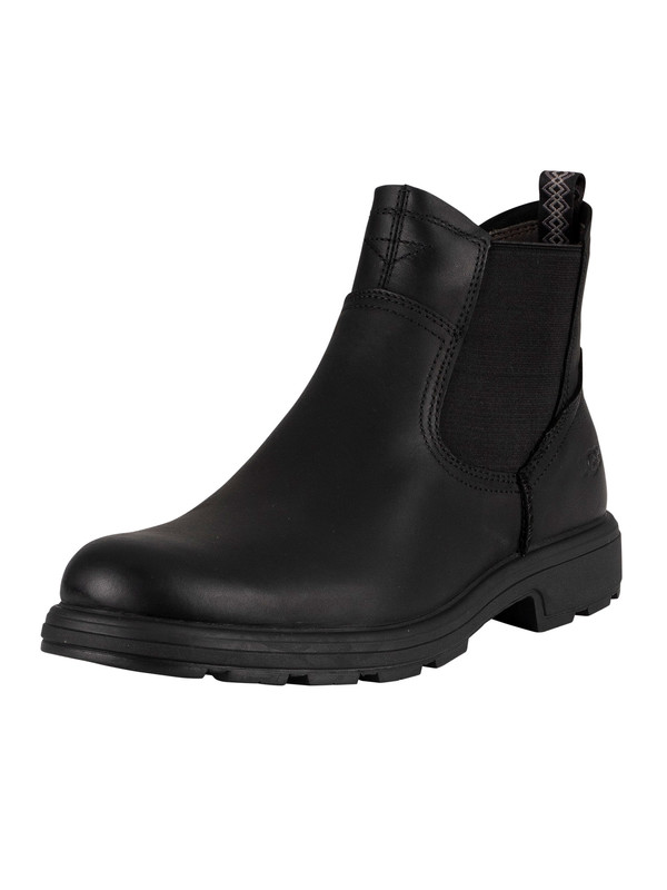 UGG Biltmore Chelsea Leather Boots - Black