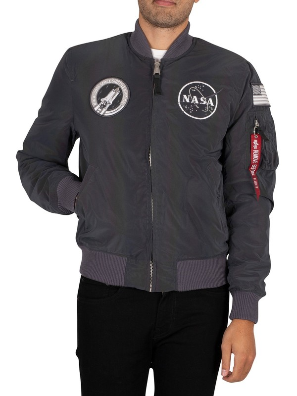 Alpha Industries MA-1 NASA Bomber Jacket - Rainbow Reflective