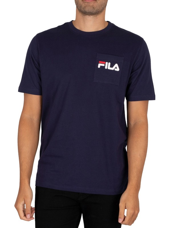 Fila Curtis Pocket T-Shirt - Peacoat