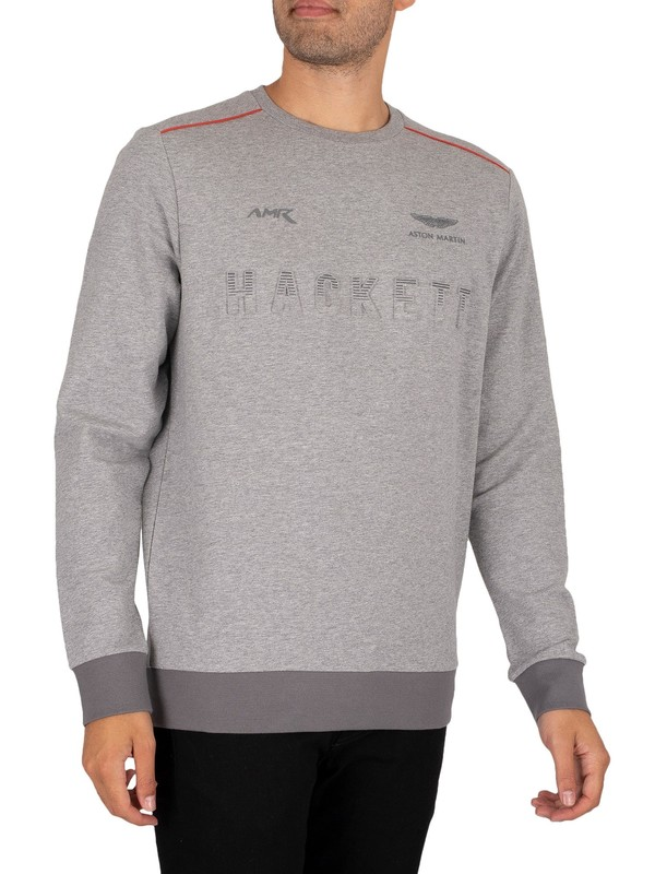 Hackett London AMR Sweatshirt - Grey Marl