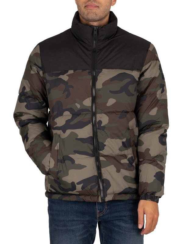Jack & Jones Drew Puffer Collar Jacket - Rosin Camo