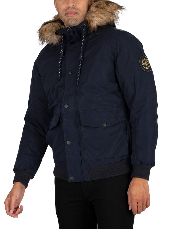 Jack & Jones Sky Bomber Parka Jacket - Navy Blazer