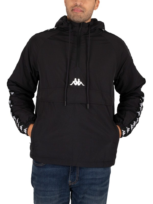 Kappa 222 Banda Britein Jacket - Black/White