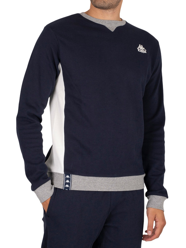 Kappa Isatis Slim Sweatshirt - Blue Navy/Natural Grey