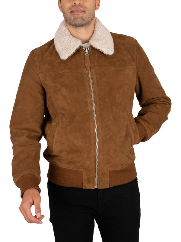 Schott Officers Suede Jacket - Rust