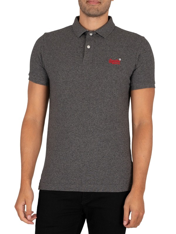 Superdry Classic Pique Polo Shirt - Nordic Charcoal Grit