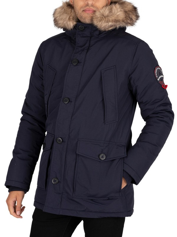 Superdry Everest Parka Jacket - Navy