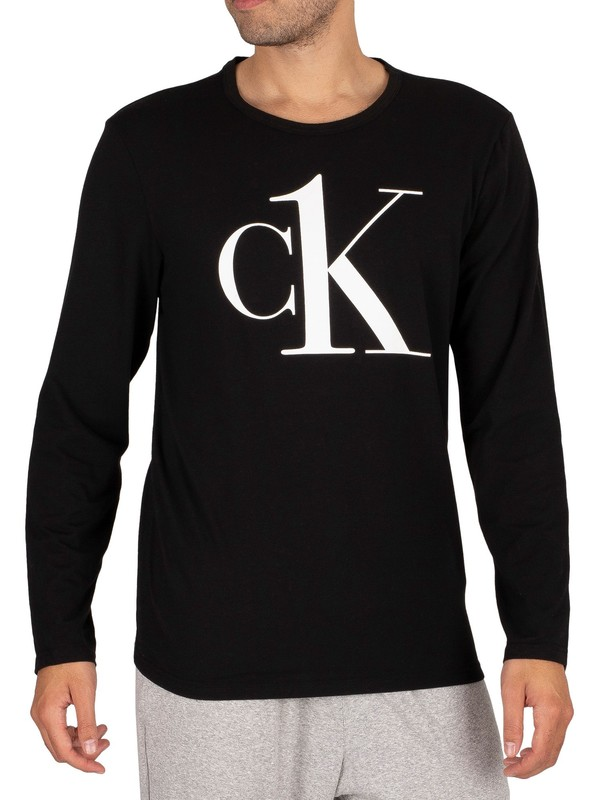 Calvin Klein Lounge Graphic Longsleeved T-Shirt - Black