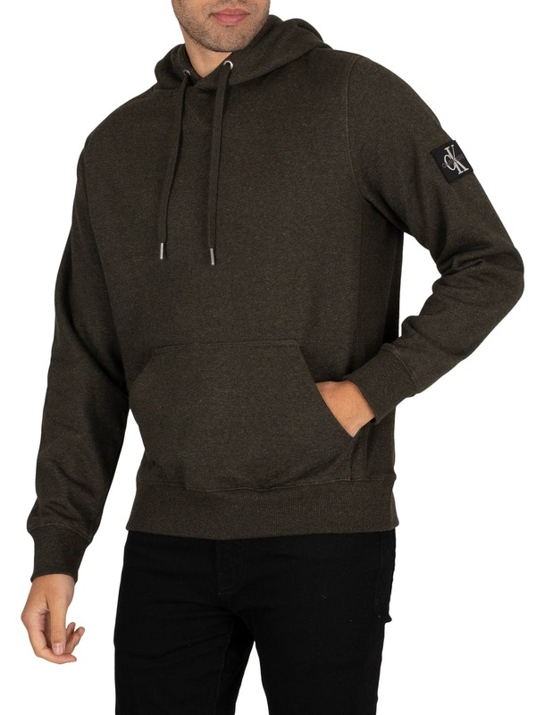 Calvin Klein Jeans Monogram Badge Pullover Hoodie - Deep Depths