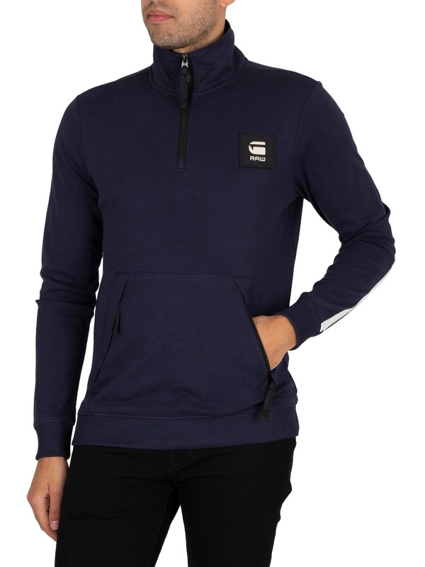 G-Star Half Zip Track Jacket - Sartho Blue