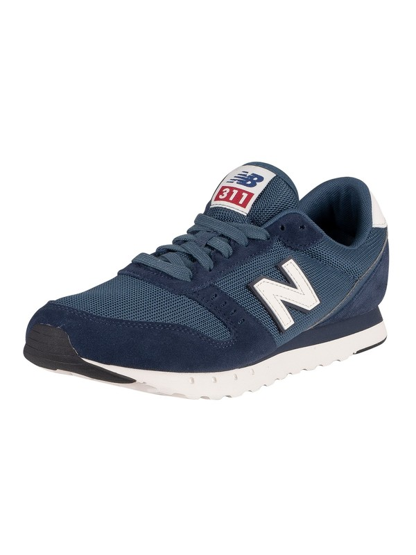 New Balance 311v2 Suede Trainers - Natural Indigo/Stone Blue