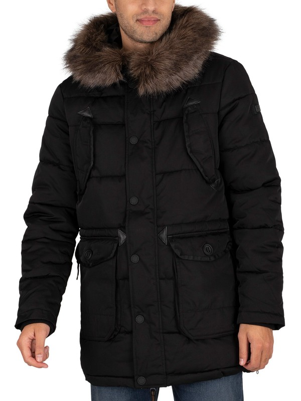 Superdry Chinook Parka Jacket - Black