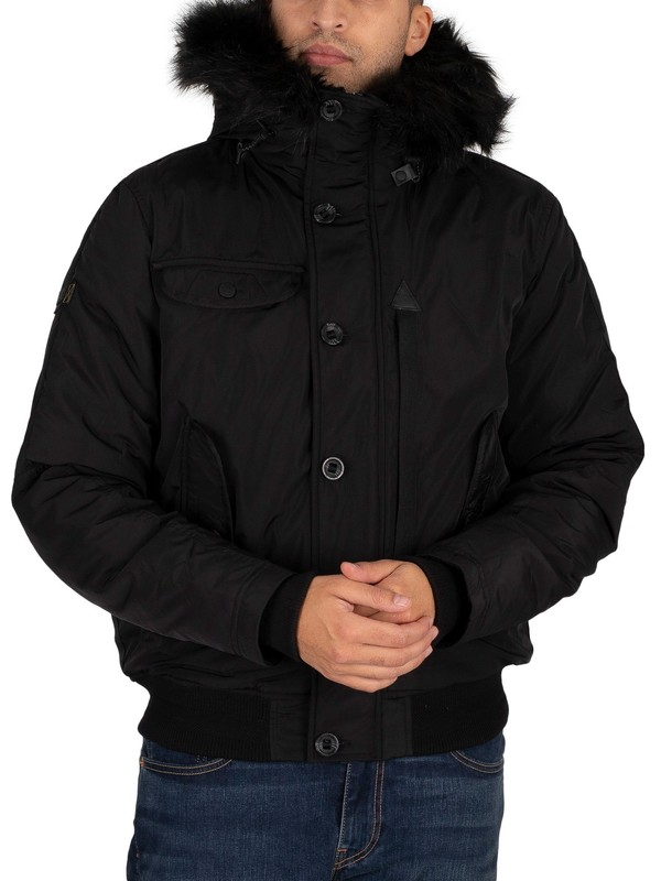 Superdry Chinook Rescue Bomber Jacket - Black