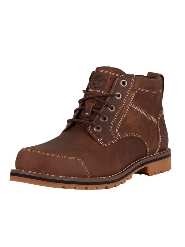 Timberland Larchmont Chukka Leather Boots - Rust Full Grain