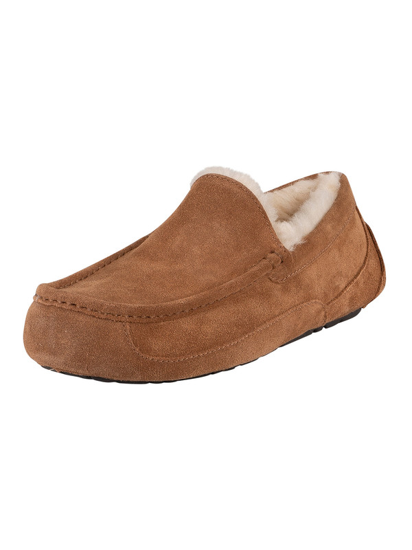 UGG Ascot Suede Slippers - Chestnut