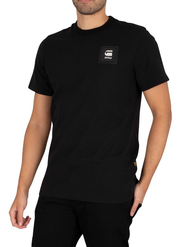 G-Star Badge Logo T-Shirt - Dark Black