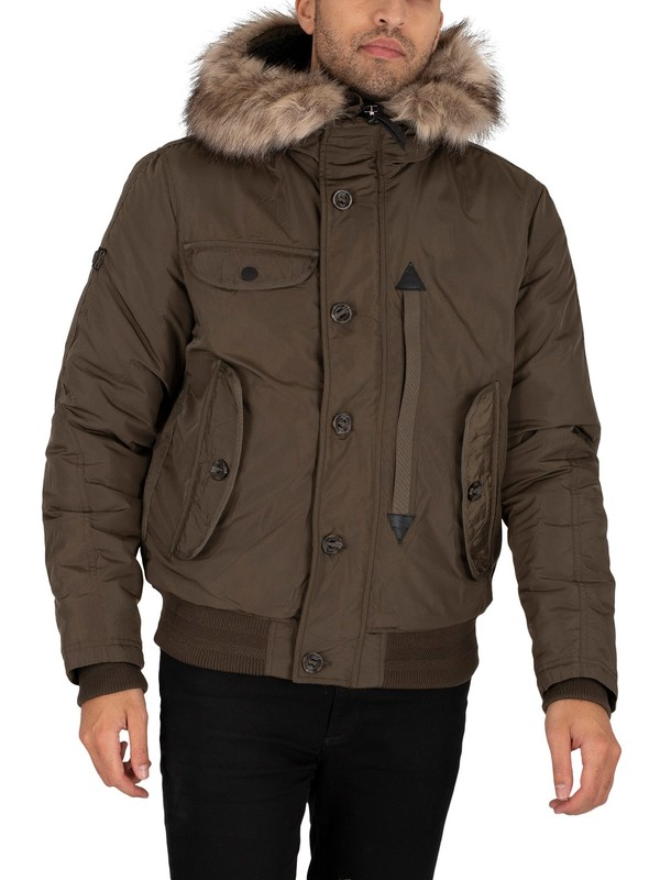 Superdry Chinook Rescue Bomber Jacket - Olive