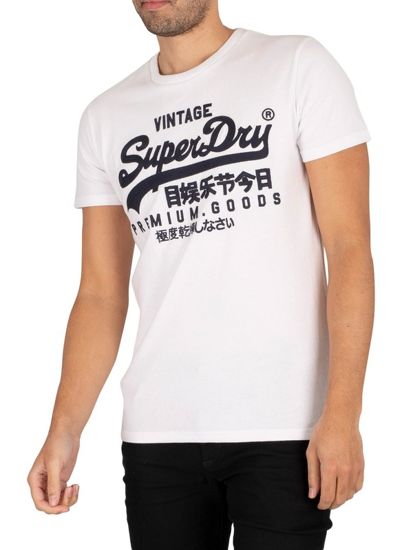 Superdry Vintage Logo Off Piste T-Shirt - Optic