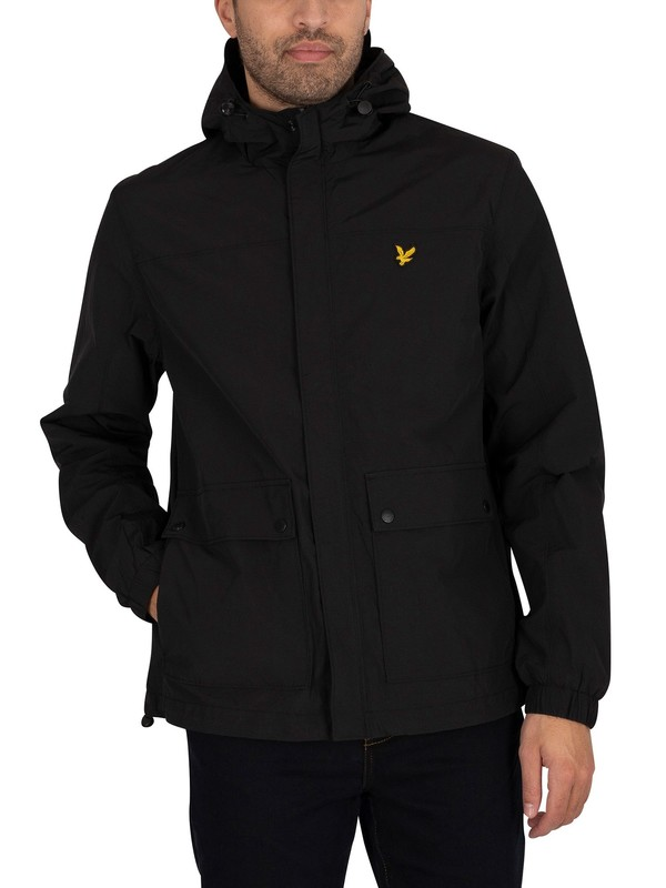 Lyle & Scott Hooded Pocket Jacket - Jet Black