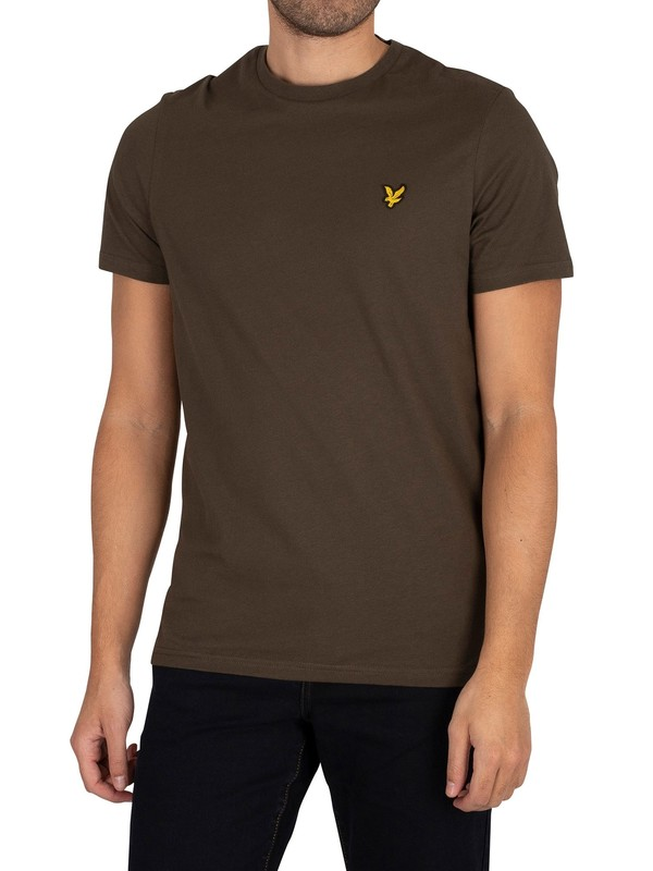 Lyle & Scott Plain Organic Cotton T-Shirt - Trek Green