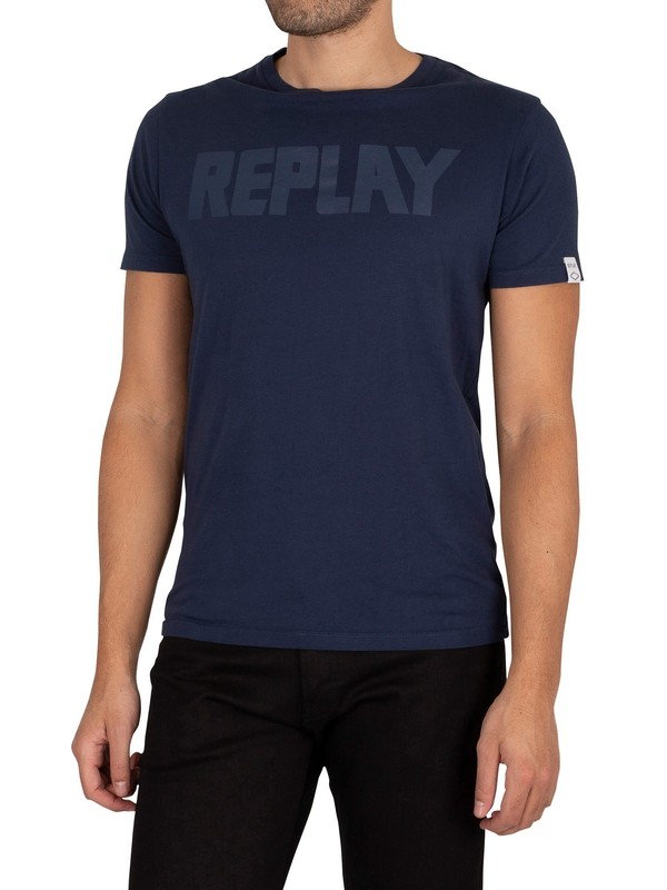 Replay Graphic T-Shirt - Navy
