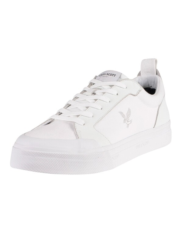 Lyle & Scott 1874 OG Canvas Trainers - White