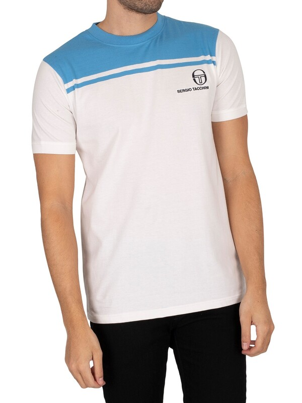 Sergio Tacchini New Young Line T-Shirt - White/Azure Blue