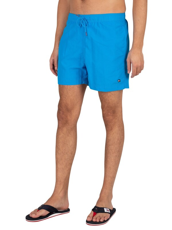 Tommy Hilfiger Medium Drawstring Slim Swim Shorts - Hyper Blue