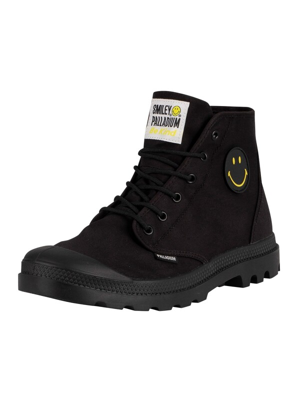 Palladium Pampa Hi Smiley Be Kind Boots - Black/Black