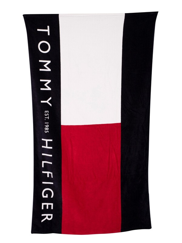 Tommy Hilfiger Flag Large Signature Towel - Red