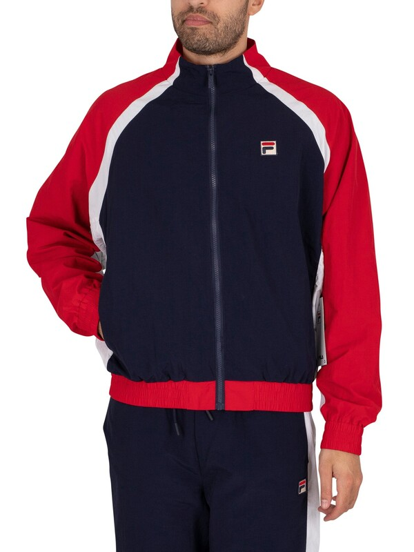 Fila Rudi Cut & Sew Funnel Neck Zip Jacket - Peacoat/Red/White