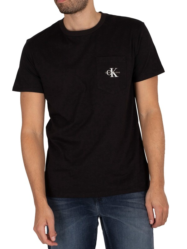 Calvin Klein Jeans Monogram Pocket T-Shirt - Black