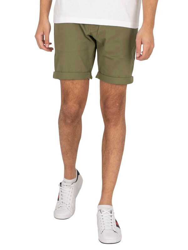 Tommy Jeans Scanton Chino Slim Shorts - Uniform Olive