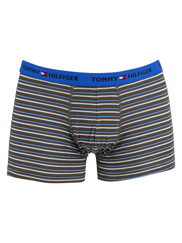 Tommy Hilfiger Organic Cotton Print Trunks - Army Green Stripe