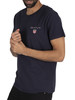 GANT Medium Shield T-Shirt - Evening Blue
