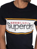 Superdry Core Logo Stripe T-Shirt - Eclipse Navy