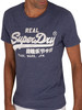 Superdry Embroidery T-Shirt - Princedom Blue Marl
