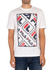 Fila Jalen T-Shirt - White/Peacoat/Red